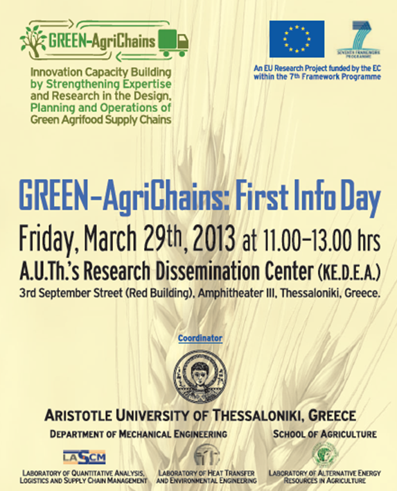 GREEN AgriChains First Info Day Poster 2