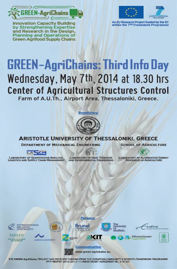 GREEN AgriChains 3rd Info Day Poster